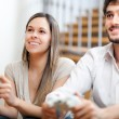 Couple playing video games — Stockfoto