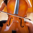 Woman playing cello — Photo