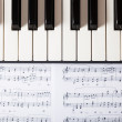 Stock Photo: Piano keyboard
