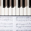 Piano keyboard — Stock Photo #35658301