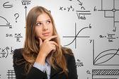 Woman resolving a complex problem — Stock Photo