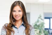 Young smiling beautiful woman — Stock Photo