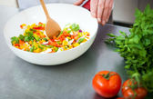 Chef cooking vegetables — Stock Photo