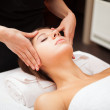 Woman having a facial massage — Stock Photo #36074413