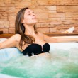 Stock Photo: Womrelaxing in whirlpool