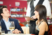 Couple ordering food — Stock Photo