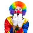 Shocked clown — Stock Photo