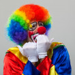 Scared funny clown — Stock Photo #36564657