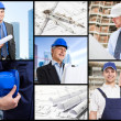 Architects and workers — Stockfoto