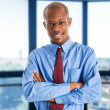 Stock Photo: Smiling businessmportrait