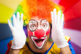 Clown making a funny face — Stock Photo