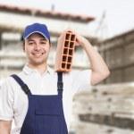 Bricklayer portrait — Stock Photo