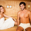 Sauna bath in a steam room — Stock Photo #36981769