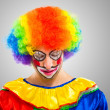 Stock Photo: Sad clown