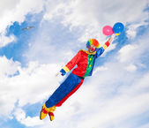 Flying clown — Stock Photo