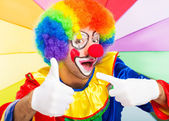 Clown giving thumbs up — Stock Photo