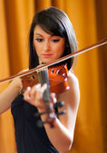 Female violinist — Foto Stock