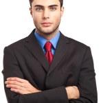 Businessman isolated on white — Stock Photo