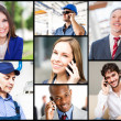 Stock Photo: People talking on phone