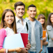 Stock Photo: College students outdoor