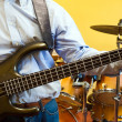 Man playing electric bass guitar — Stock Photo #38775607