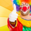 Stock Photo: Clown giving thumbs up