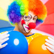 Stock Photo: Colorful clown