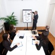 Stock Photo: Businessmexplaining business concepts