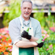 Mature gardener — Stock Photo