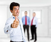 Man doing thumbs up — Stock Photo