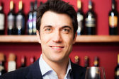 Satisfied sommelier — Stock Photo