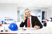 Architect in his office — Stock Photo