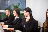 Customer representatives at work — Stock Photo