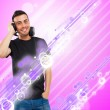 Man listening music — Stock Photo #40070297