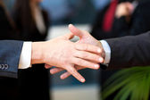 Businesspeople handshake — Stock Photo