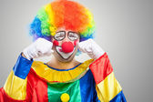 Sad clown — Stock Photo
