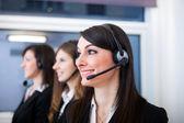 Customer representative at work — Stock Photo
