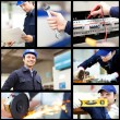 Collage of workers — Stock Photo