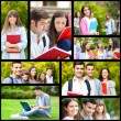 Students collage — Foto Stock