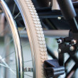 Stock Photo: Wheelchair detail