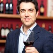 Man holding a glass of wine — Stock Photo