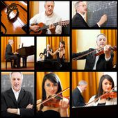 Collage musicali — Foto Stock