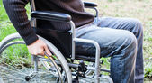 Man using his wheelchair — Stock Photo