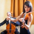 Musicians playing chamber music — Stock Photo #41490949