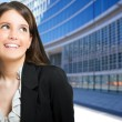 Thoughtful businesswoman looking up — Stock Photo #41491763