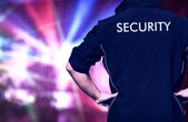 Bouncer in a discotheque — Stock Photo