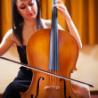 Постер, плакат: Woman playing cello