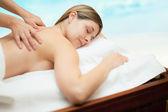Woman receiving a massage — Stock Photo