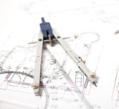 Construction drawing — Stock Photo