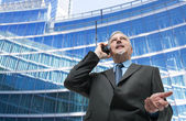 Businessman taliking on the phone — Stock Photo